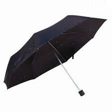 NEW BLACK MINI UMBRELLA FOR MEN WOMEN SUPER MINI COMPACT FOLDING HANDBAG UK