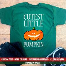 Kids Cutest Little Pumpkin T-Shirt - Halloween Outfit Cute Costume Party Top