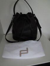 Porsche Design nayabag Black bolso de mano bolsa funda de cuero bolsillos negro nuevo