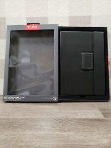 "New TUMI Leather Rotating Folio Case For iPad Air 2  9.7"" Black Leather ✅"