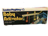 """30"""" Creative Playthings MCM Wooden Crib Baby Activator Mobile Vintage"""