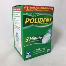 Polident 3 Minute Denture Cleanser Tablets, Mint, 120ct 310158053330A592