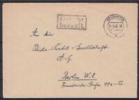 Alliierte Besetzung Neuruppin Barfrankatur Gebühr bez. Brief - Berlin 12.09.1945