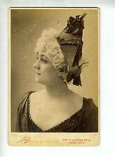 "(B2) Grande Photo CDV NADAR ""chanteuse actrice opéra théâtre"" à identifier"