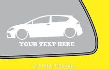 2x LOW YOUR TEXT mk2 Seat Leon FRTFSITDi outline sticker 311