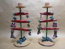 Southwestern Christmas Candle Holders