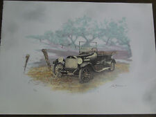 signed S. Bloom Old Car Lithograph Limited Edition.on high quality paper
