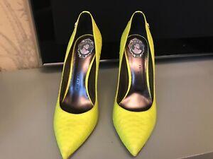 Women's neon yellow Philipp Plein heels size 39