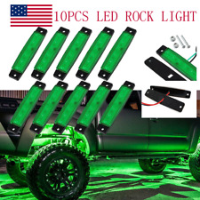 Green LED Rock Lights 10Pod Underbody Wheel Light For JEEP Offroad Truck UTV ATV