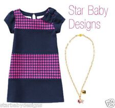 NWT Gymboree BUNDLED & BRIGHT Outfit Size 6 Houndstooth DRESS & Charm Necklace