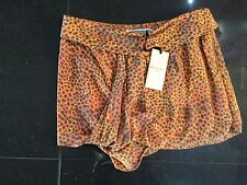 NWT Twenty8Twelve New & Genuine Ladies Coral 100% Silk Short Skirt UK Size 10