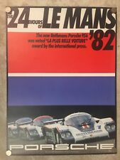 1982 Porsche 956 Group C 24 Hours of Le Mans Showroom Advertising Poster RARE!!
