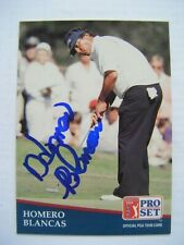 HOMERO BLANCAS signed 1991 Pro Set golf card AUTO Autographed HOUSTON COUGARS TX