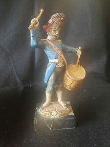 Set Of 6 Soldiers Figurines Carrara Marble Made In Italy