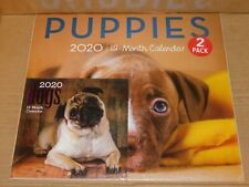 2020 Wall Calendars 2 Pack - Puppies and Dogs 12 Month Calendars New Sealed