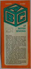 Original A B C Guía del usuario para una mejor coser-Máquina de Coser tirador de problemas