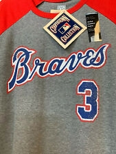 New w TAGS - Atlanta Braves Cooperstown 3/4 Sleeve Jersey Shirt #3 Murphy
