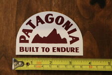 Patagonia Built To Endure Sticker Decal New