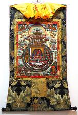 35 Inch Tibet Thangka Painting Buddhist Goddess Vajrayogini in Tantra Mandala
