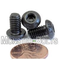 (10) M6 - 1.0 x 10mm Button Head Socket Caps Screws, 12.9 Alloy Steel ISO 7380
