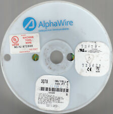 ALPHAWIRE  14AWG  3079  GN/YELLW  100-FT.