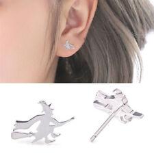 Creative Silver Witch Broom Ear Stud Women Earring Halloween Party Jewelry Decor