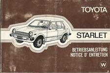 TOYOTA Starlet P6 Betriebsanleitung 1978 1979 Bedienungsanleitung Handbuch  BA