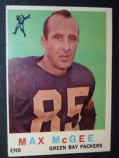 1959 Topps #4 MAX McGEE GREEN BAY PACKERS EX/NM RC ROOKIE Football Card TULANE !