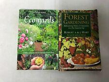 2x Gardening Books Eco-Yards 9780865716827 & Forest Gardening 9781900322027
