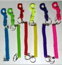 6x Retractable Spiral Keyring Holder Stretchy Keyring Key Chain Holder Key Ring.