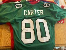 HOFer Cris Carter Autographed Philadelphia Eagles Football Jersey JSA COA