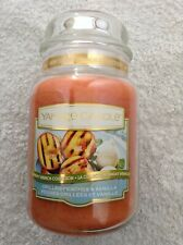 Yankee candle  'Grilled Peaches & Vanilla'  large jar