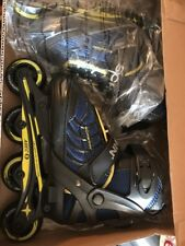 Boy'S youth Inline Skates Adjustable Sz 1-4 Schwinn Xpulse Black Blue Yellow