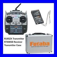 FUTABA 18SZA 18SZ 18 CHANNEL RC AIRPLANE RADIO SYSTEM W/ R7008SB & FREE TX CASE