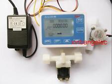 "G1/4"" Water Flow Control LCD Display+Flow Sensor +Solenoid valve +Power Adapter"