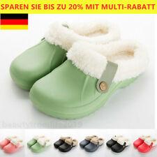 Damen Herren Unisex Hausschuhe Winter Warm Slipper Pantoffeln Slip On Schlappen,