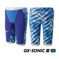 NEW MIZUNO Swimsuit Swimwear Men GX-SONIC III MR FINA N2MB6002 Blue Japan F/S