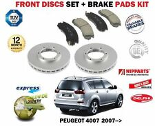 FOR PEUGEOT 4007 2.2 HDI 2.4 2007-> NEW FRONT BRAKE DISCS SET + DISC PADS KIT