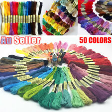 Embroidery Egyptian Cotton Thread Floss Bulk DIY Line Cross Stitch 50 Colourful