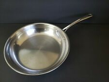 Tramontina Stainless Steel frypan Saute Skillet Tri Ply Clad 10in