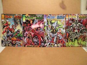 Spawn WildCATS 1,2,3,4 NM+ 9.6 Investor Set Image Comics 1996 Alan Moore DevilDa