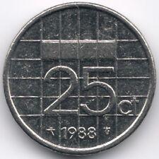 Netherlands : 25 Cent 1988