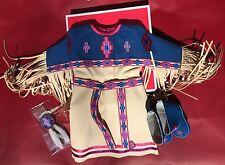 AMERICAN GIRL Kaya's Pow Wow Dress of Today NIB Blue and White