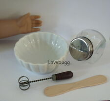 "Baking Set Bowl Canister Play Food for 18"" American Girl Doll Widest Selection"