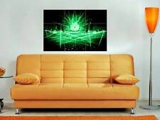 """LASER SHOW 35""""X25"""" INCH MOSAIC WALL POSTER LAZER HOUSE TECHNO DUBSTEP N2"""