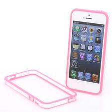 iPhone 5 TPU Silikon Schutz-Hülle Bumper Cover Tasche Case Schale pink rosa