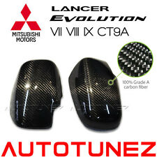 Carbon Fiber Side Mirror Cover For Mitsubishi Lancer EVO 7 8 9 CT9A Evolution