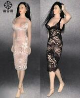"""1//6 Female Lace Wrapped Corset Underwear White Clothes for 12/"""" Girl Figure Body"""