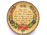 Vintage German Proverb Wood Plate Women Is Like an Onion Poem