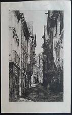 Rue de Vitré (Ille-et-Vilaine) Maisons à Colombages par Jean Litoux vers 1881